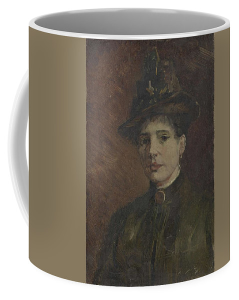 Beautiful Coffee Mug featuring the painting Portrait Of A Woman Paris March June 1886 Vincent Van Gogh 1853 1890 by Artistic Panda