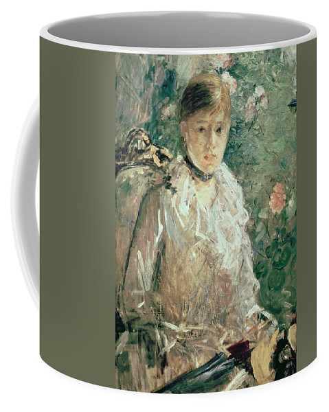 Portrait Coffee Mug featuring the painting Portrait Of A Young Lady by Berthe Morisot