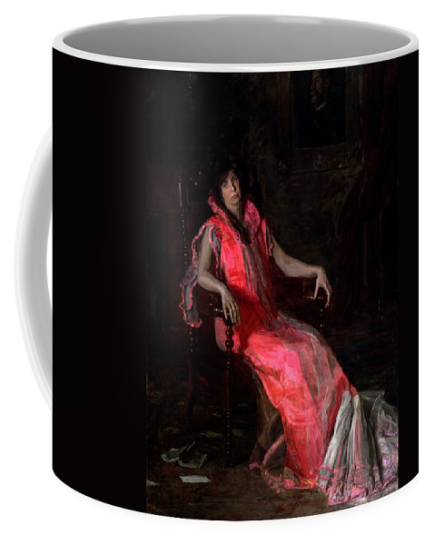 Thomas Eakins Coffee Mug featuring the painting Portrait Of Actress Suzanne Santje by Thomas Eakins