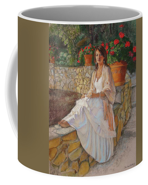Portrait Coffee Mug featuring the painting Portrait Of Alitta by Sue Halstenberg