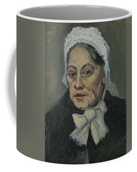 Beautiful Coffee Mug featuring the painting Portrait Of An Old Woman Antwerp December 1885 Vincent Van Gogh 1853 1890 by Artistic Panda
