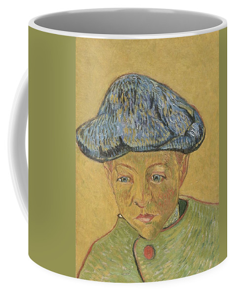 Art Coffee Mug featuring the painting Portrait Of Camille Roulin by Artistic Panda
