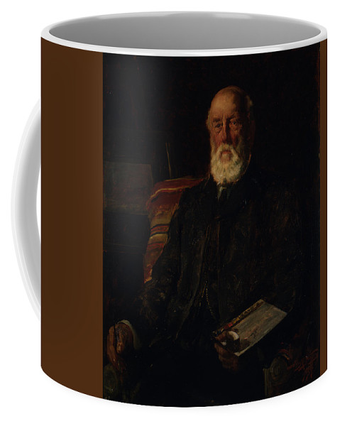 Man Coffee Mug featuring the painting Portrait Of C.d. Barraud, 1897, Wellington, By James Nairn by James Nairn