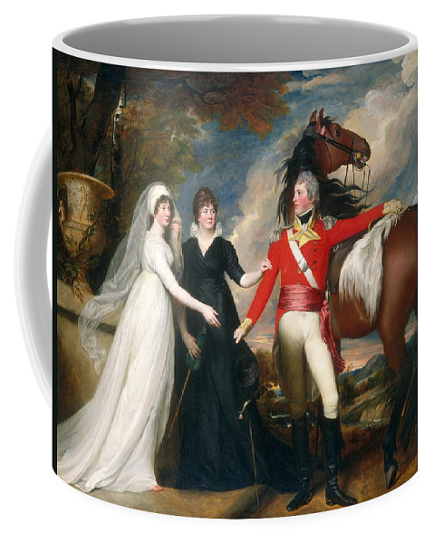 John Singleton Copley Coffee Mug featuring the painting Portrait Of Colonel Fitch And His Sisters by John Singleton Copley