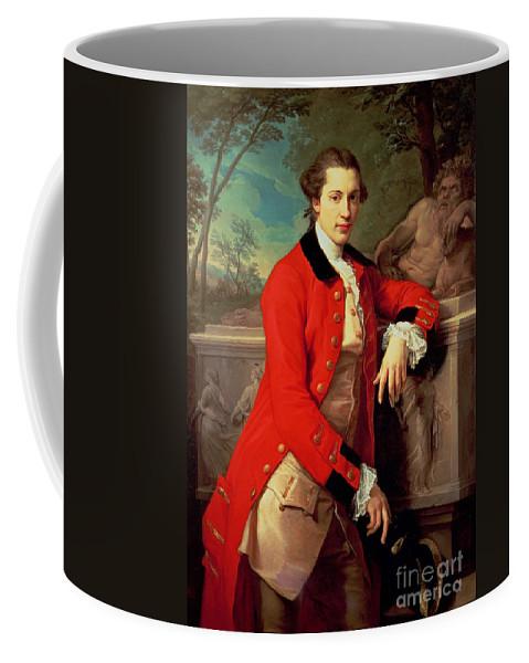 Portrait Coffee Mug featuring the painting Portrait Of Edmund Rolfe by Pompeo Girolamo Batoni