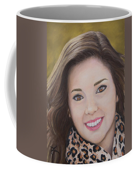 Portrait Coffee Mug featuring the painting Portrait Of Kaitlyn by Dee Carpenter