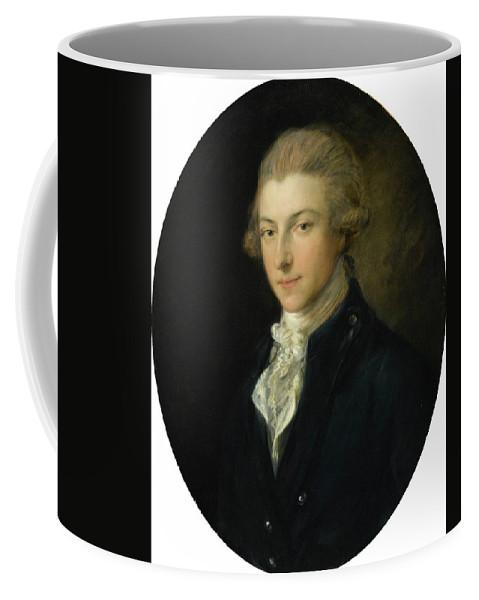 Thomas Gainsborough R.a. Portrait Of Louis-ren� Ferdinand Quentin De Richebourg Coffee Mug featuring the painting Portrait Of Louis by MotionAge Designs