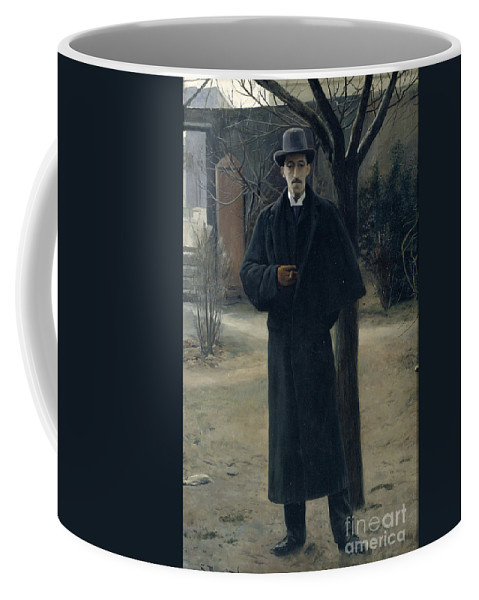 Portrait Of Miquel Utrillo Coffee Mug featuring the painting Portrait Of Miquel Utrillo by MotionAge Designs