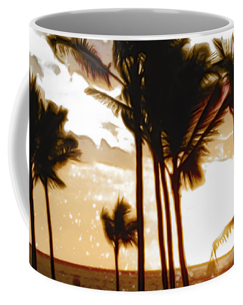 Palm Coffee Mug featuring the photograph Portrait Of Paradise by Paulette B Wright