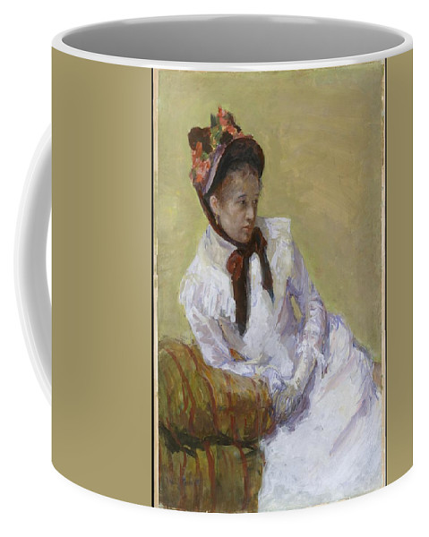 Portrait Of The Artist Artist Mary Cassatt Coffee Mug featuring the painting Portrait Of The Artist Artist Mary Cassatt by MotionAge Designs
