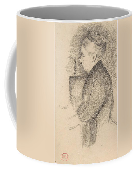 Portrait Of The Artist's Mother Henri-edmond Cross Coffee Mug featuring the painting Portrait Of The Artists Mother by MotionAge Designs