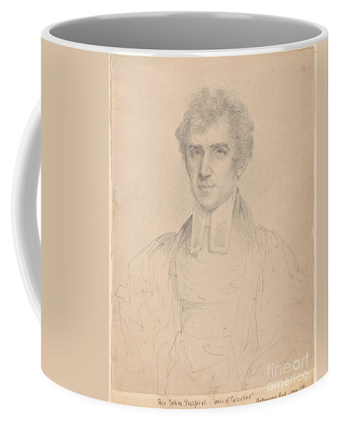Rembrandt Peale 1778-1860 Portrait Of The Rev. John Pierpont (1785-1866) May 1821 Coffee Mug featuring the painting Portrait Of The Rev John Pierpont by MotionAge Designs