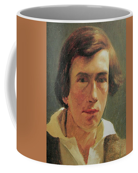 Rudolf Koller Coffee Mug featuring the painting portrait of the young Arnold Bocklin by MotionAge Designs