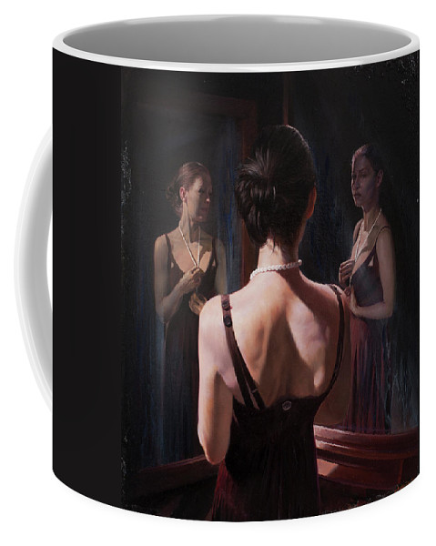 Woman Coffee Mug featuring the painting Portrait Of Two Souls by Jon B Paulsen