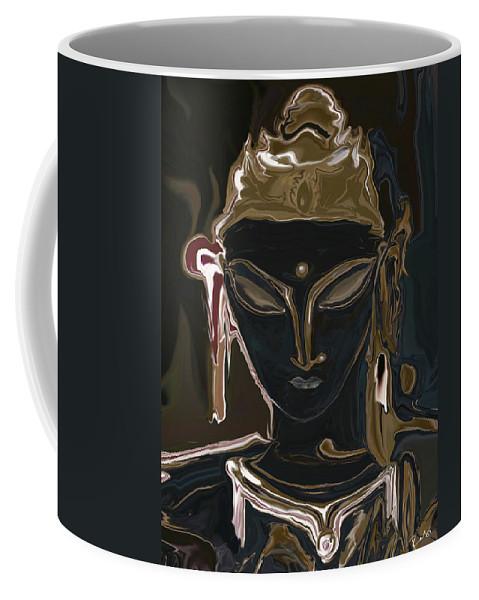Art Coffee Mug featuring the digital art Portrait Of Vajrasattva by Rabi Khan