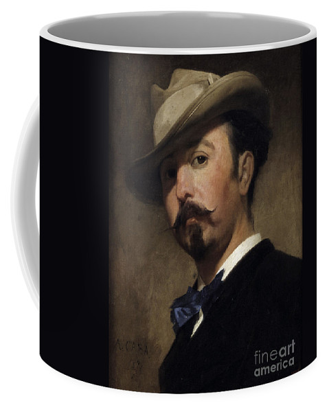 Antonio Caba Coffee Mug featuring the painting Portrait Painter Joaquin Vayreda by MotionAge Designs