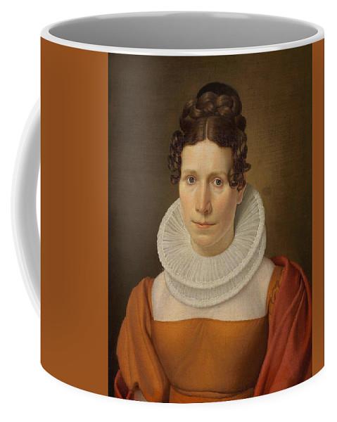 Christoffer Wilhelm Eckersberg (1783-1853) Portræt Af Faktor Fjellerups Kone Coffee Mug featuring the digital art Portree Af Faktor Fjellerups Kone by Mark Carlson