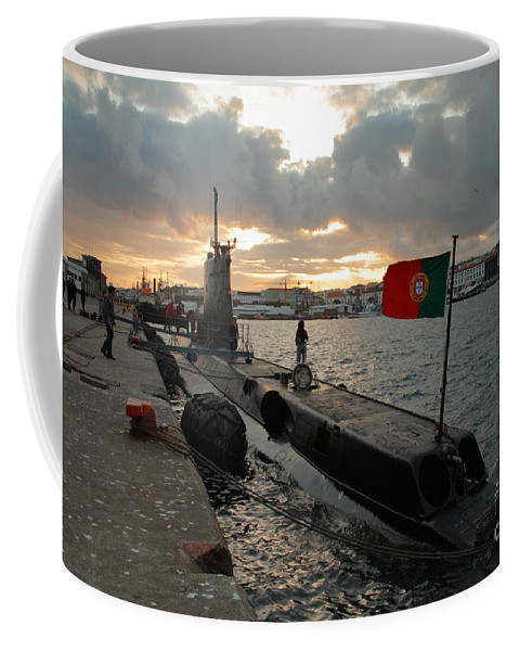 Harbor Coffee Mug featuring the photograph Portuguese Navy Submarine by Gaspar Avila