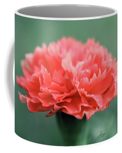 Flower Coffee Mug featuring the photograph Posh Carnation by April Zaidi