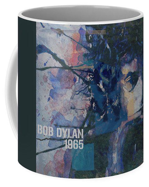 Bob Dylan Coffee Mug featuring the painting Positively 4th Street by Paul Lovering