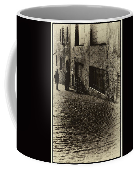 Alibi Room Coffee Mug featuring the photograph Post Alley - West Wall by David Patterson