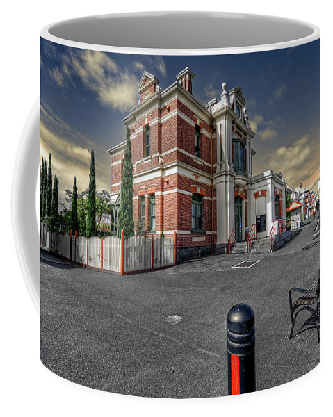 Architecture Coffee Mug featuring the photograph Post Office by Wayne Sherriff