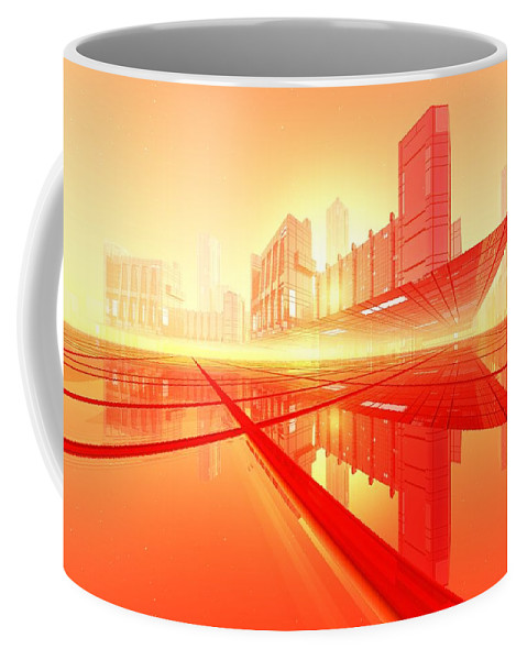 Abstractly Coffee Mug featuring the digital art Poster-city 1 by Max Steinwald
