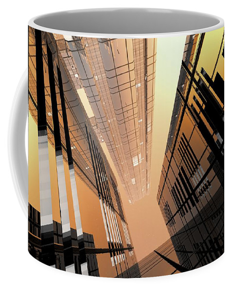Abstractly Coffee Mug featuring the digital art Poster-city 2 by Max Steinwald