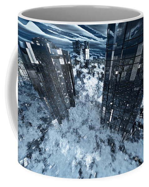 Abstractly Coffee Mug featuring the digital art Poster-city 8 by Max Steinwald