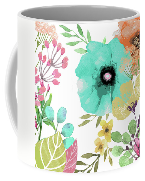 Poppies Coffee Mug featuring the painting Posy II by Mindy Sommers