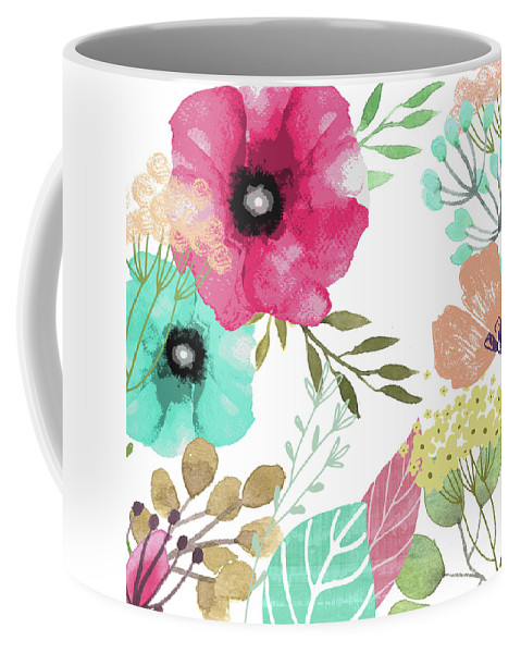 Flowers Coffee Mug featuring the painting Posy by Mindy Sommers