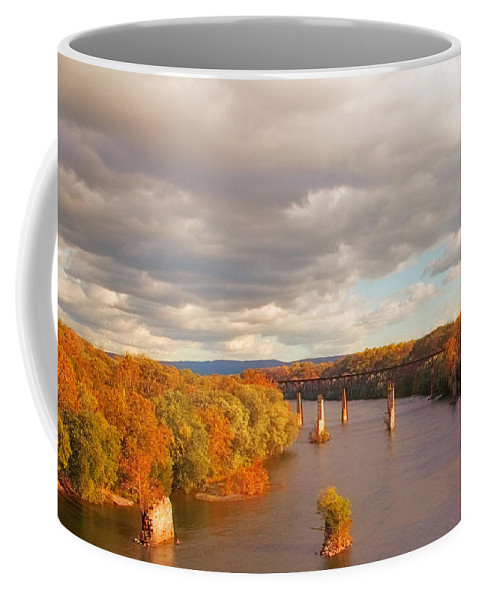 Potomac Coffee Mug featuring the photograph Potomac River by Mick Burkey