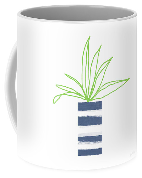 Plant Coffee Mug featuring the mixed media Potted Plant 2- Art By Linda Woods by Linda Woods