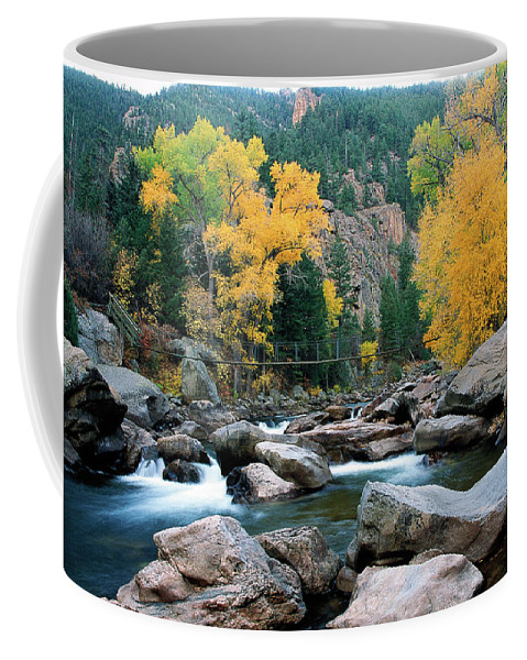 Colorado Coffee Mug featuring the photograph Poudre Gold by Jim Benest
