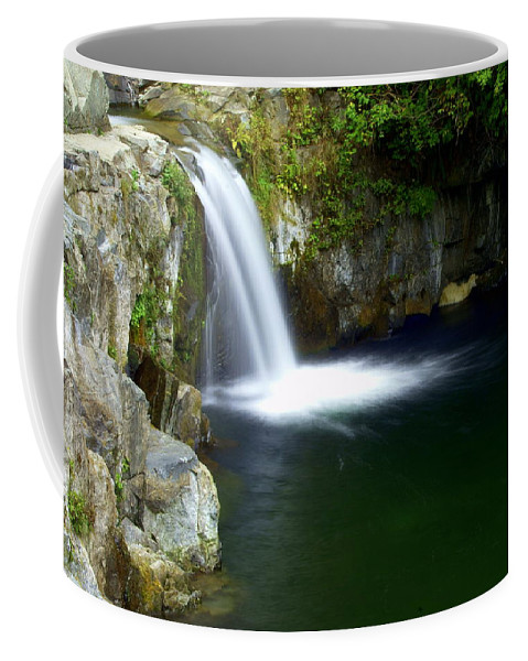 Waterfall Coffee Mug featuring the photograph Pour Off by Marty Koch