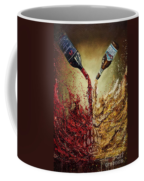 Donation Coffee Mug featuring the painting Pouring It Down by Jodi Monahan