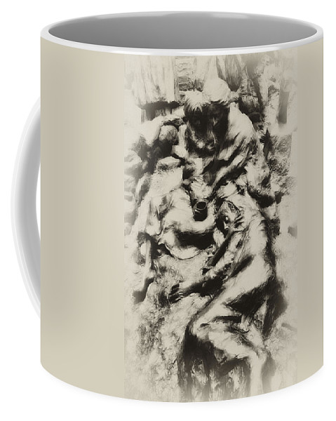 Philadelphia Coffee Mug featuring the photograph Poverty by Bill Cannon
