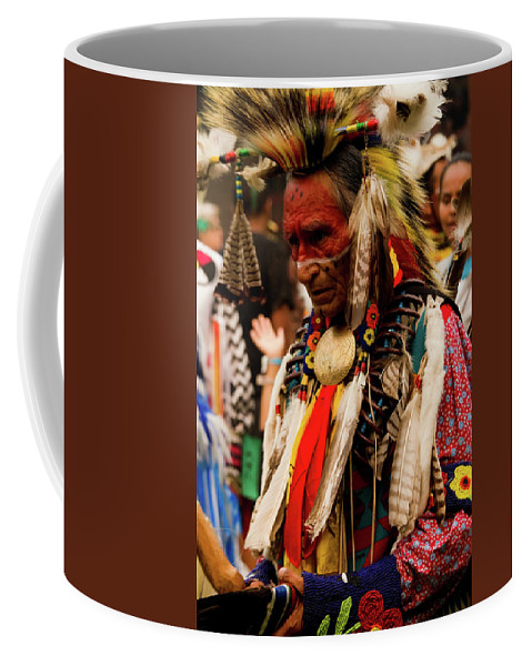 Indian Coffee Mug featuring the photograph Pow Wow Celebration No 8 by David Smith