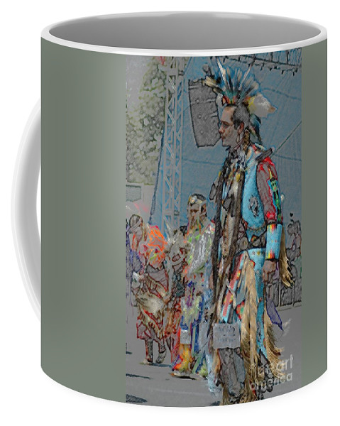 Native Coffee Mug featuring the photograph Pow Wow Competition by Kathleen Struckle