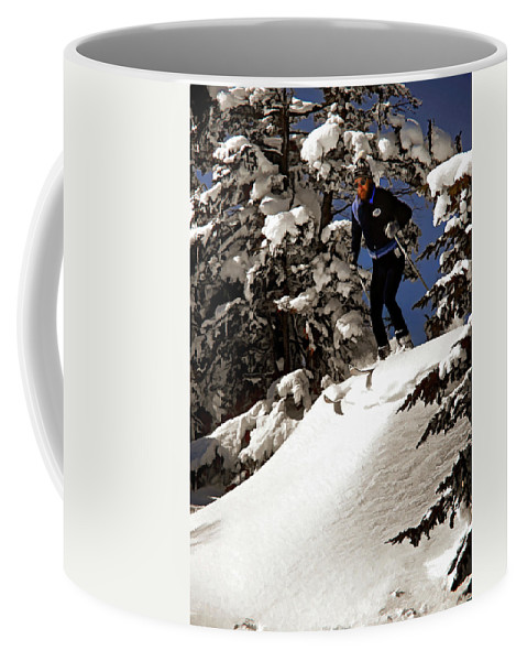 Smuggler's Notch Coffee Mug featuring the photograph Powder Hound by Steve Harrington