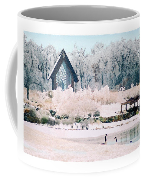 Landscape Coffee Mug featuring the photograph Powell Gardens Chapel by Steve Karol