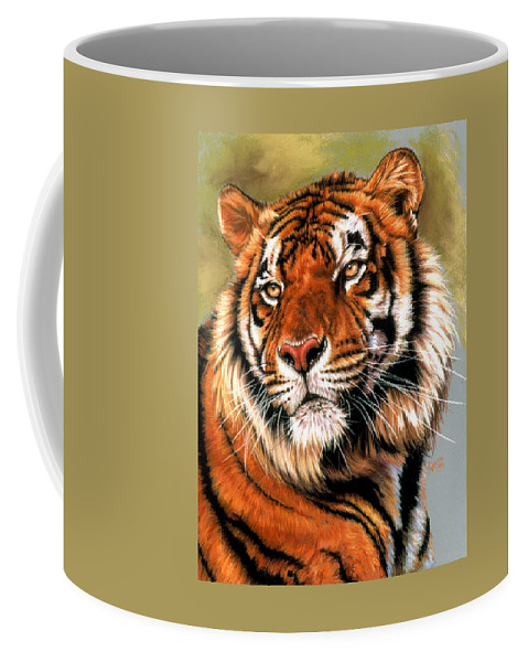 Tiger Coffee Mug featuring the pastel Power and Grace by Barbara Keith