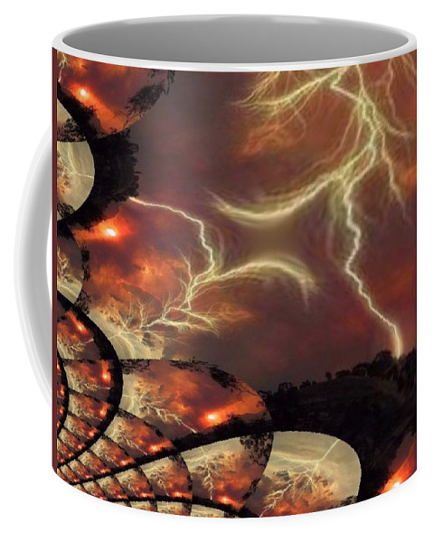 Lightning Coffee Mug featuring the photograph Power Punch by Tim Allen