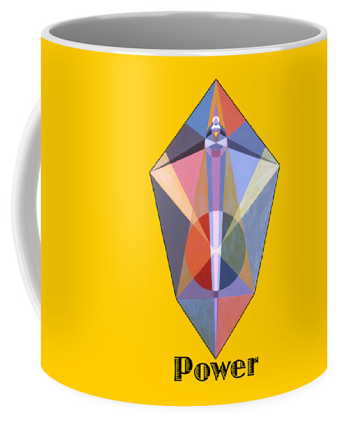 Painting Coffee Mug featuring the painting Power text by Michael Bellon