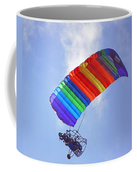 Parasail Coffee Mug featuring the photograph Powered Parasailing 1 by Kenneth Albin