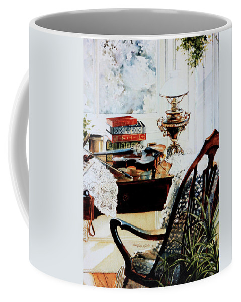Practice Makes Perfect Coffee Mug featuring the painting Practice Makes Perfect by Hanne Lore Koehler