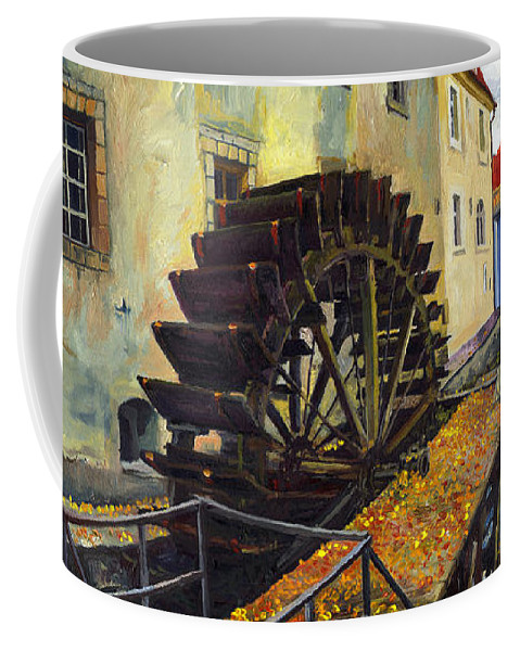 Prague Coffee Mug featuring the painting Prague Chertovka by Yuriy Shevchuk