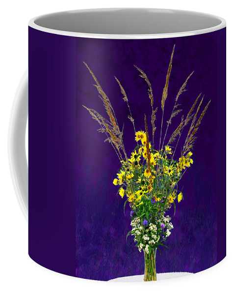 Flowers Coffee Mug featuring the photograph Prairie Bouquet by Steve Karol