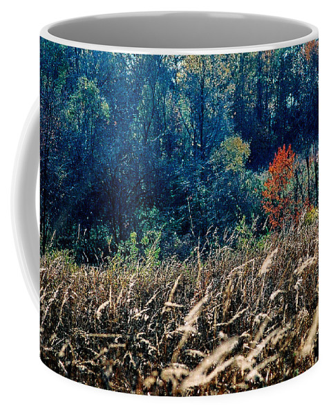 Landscape Coffee Mug featuring the photograph Prairie Edge by Steve Karol