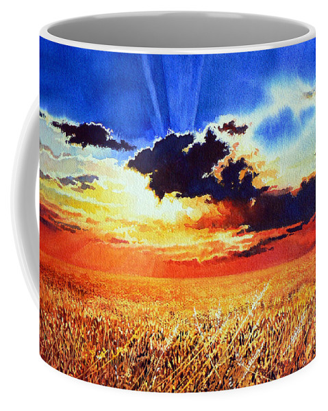 Prairie Gold Painting Coffee Mug featuring the painting Prairie Gold by Hanne Lore Koehler